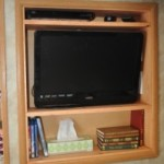 Upgraded Bedroom RV Entertainment Center Mod in Gulf Stream Enduramax