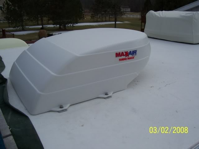 Maxxair fan on the roof