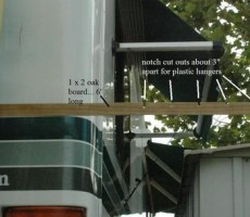 RV Ladder Mounted Camping Clothes Dryer Mod