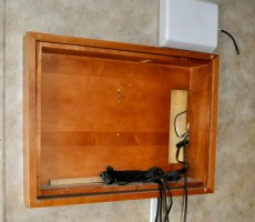 Upgraded Bedroom RV Entertainment Center Mod in Gulf Stream Enduramax