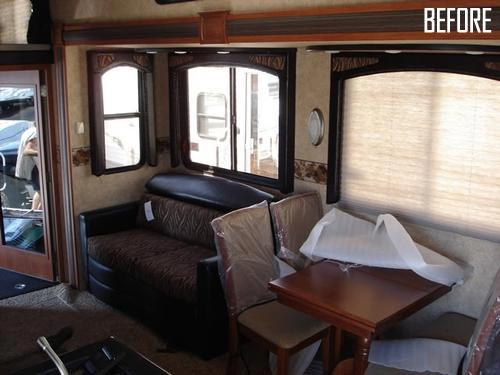 rv living room to office upgrade and renovation