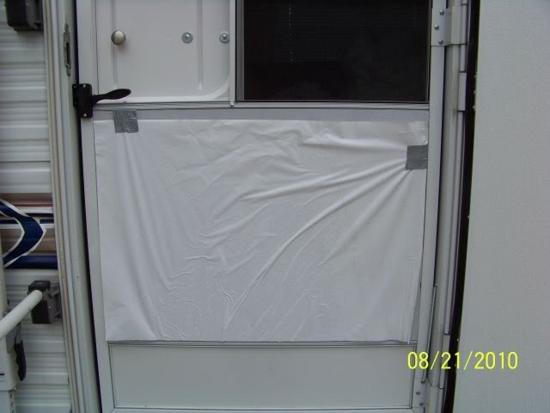 Bottom half of an RV storm door