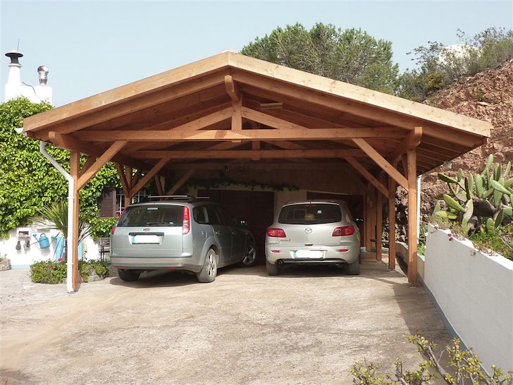 Car Canopy Wood : Rv carport and garage options customizations costs