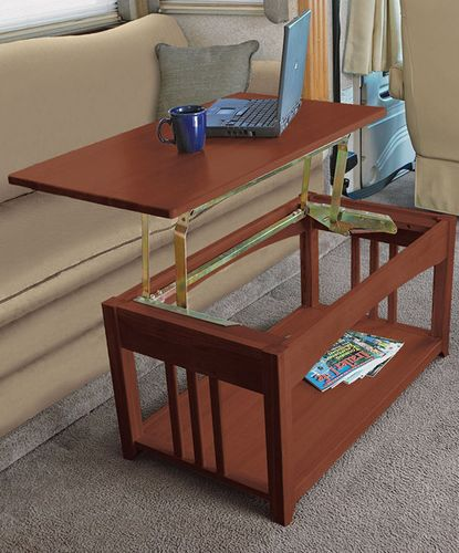 Multipurpose Lift Top Rv Coffee Table That Is Just Right