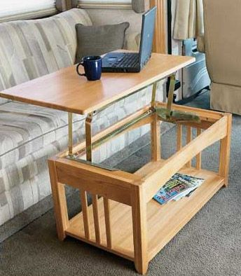 Multipurpose Lift Top RV Coffee Table that is Just Right for the RV