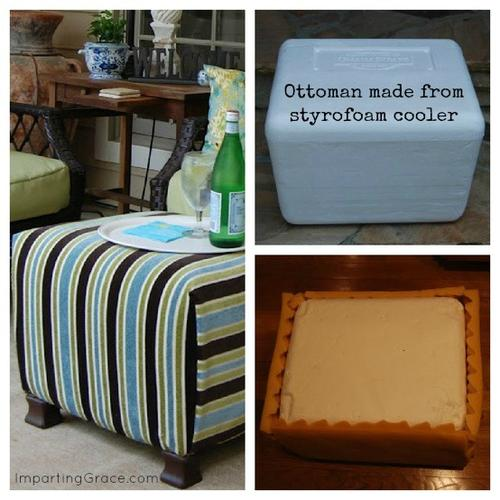 Foot Stool Ideas Diy Ottoman