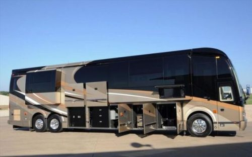 The outlaw coach h3 45 vip luxury motorhome
