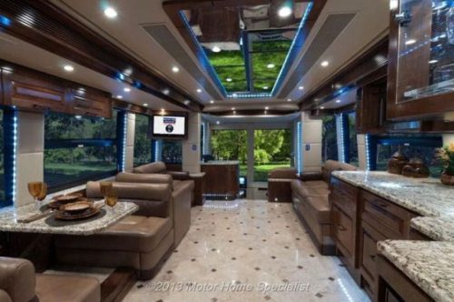 The outlaw coach h3 45 vip luxury motorhome for Million dollar motor coaches