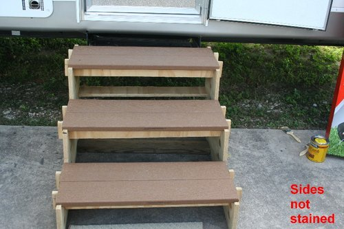 Stairs For Rvs : Simple portable rv stairs so easy a year old man can do it