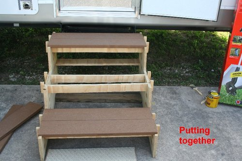 Simple Portable Rv Stairs So Easy A 84 Year Old Man Can Do It