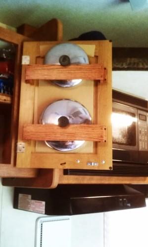 Smart rv cookware storage idea for behind cabinet doors rv cookware storage idea for behind cabinet doors eventshaper