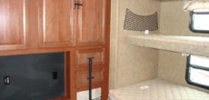 Convert a RV TV Cubby into Useable Storage