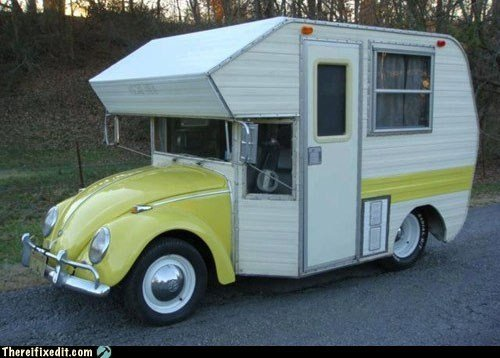 Funny VW RV Conversion: Save on Gas While Still Being Stylish
