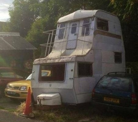 Funny RV: Two Story Camper, The Logical Next Step for More Room