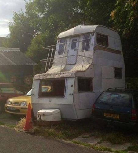 Have A Spare RV Around Why Not Simply Stack Them For Two Story Camper