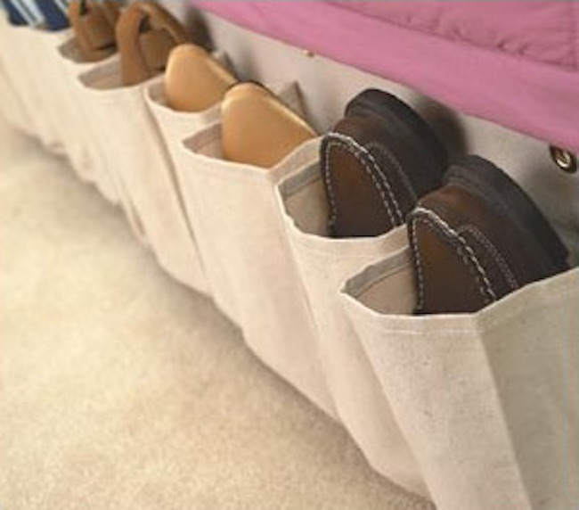 RV shoe storage rack