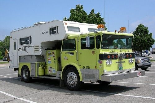Funny RV: Fire Truck Camper in Case of Emergency