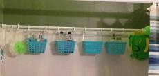 RV BathTub Storage: Turn a Spare Shower Rod into Modular Storage