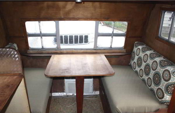 refurbish aging rv dinette cushions new upholstery but no sewing
