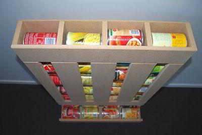 Diy Rv Food Storage Can Dispenser Keep