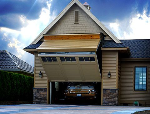 One of a kind rv garage 8 foot tall door that your rv can for How big is a two car garage door