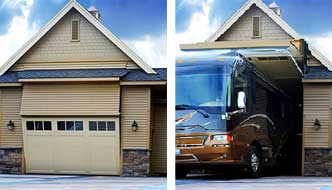 One Of A Kind Rv Garage 8 Foot Tall Door That Your Rv Can