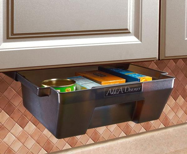 Permanent extra space in an instant add a drawer rv accessory - Make cabinet scratch extra storage space ...