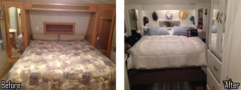 Amazing fifth wheel remodel on a shoestring budget of 650 Design caravan renovation ideas home