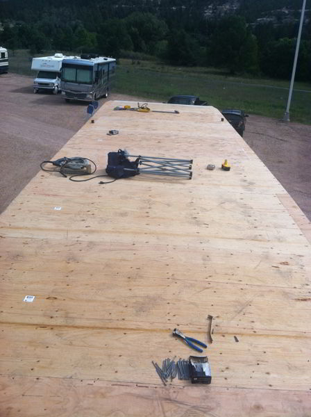 Rv Roof Replacement Using Line X On A Weekend Warrior