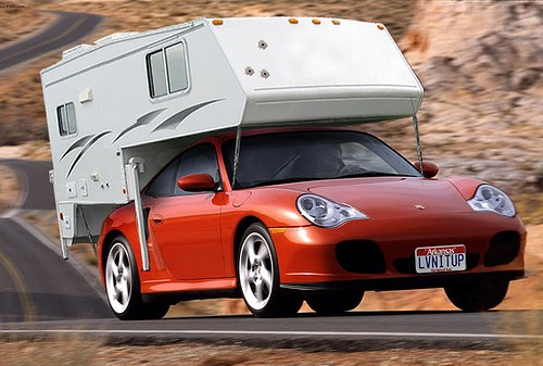 Porsche with a Truck Camper: Form and Function?