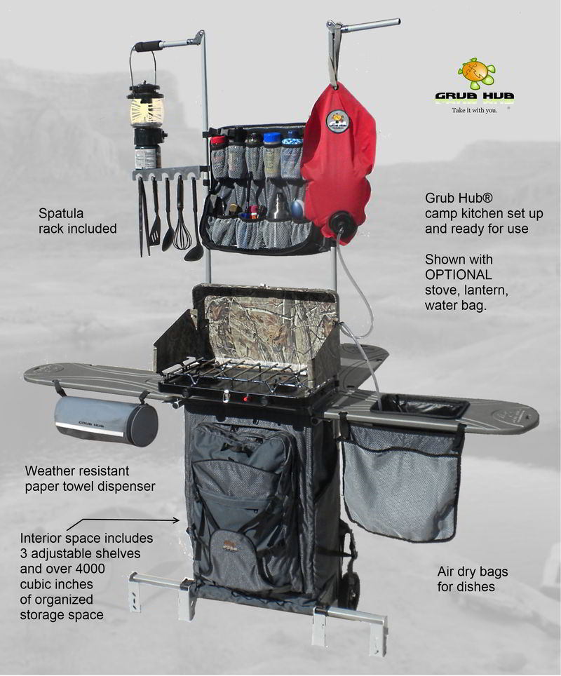 Compact portable outdoor kitchen to change rv cooking for the better - Wonderful kitchen layout plans for totally comfortable cooking time ...