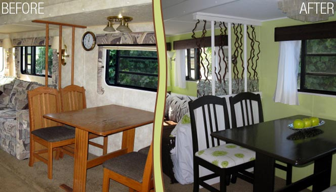 the impact rv decorating has on the look and feel of a rv interior