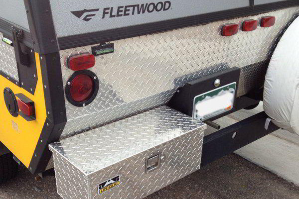 Gain Extra Space with a RV Tool Box Mounted to the Rear Bumper