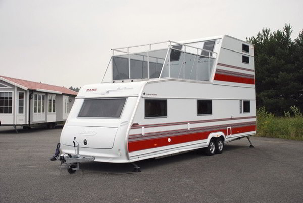 two story rv a travel trailer with 2 floors and walk out balcony