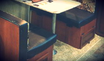 Transform Your RV Dinette Booth with a Full Access Cabinet
