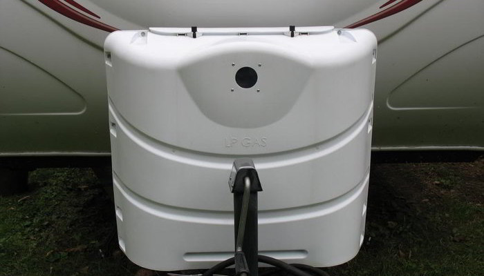 RV Propane Tank Cover Modification to Check Fill Levels Cheaply