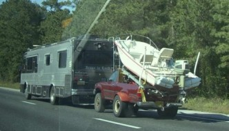how does someone get a boat in a bed of a truck sure a crane or lift ...