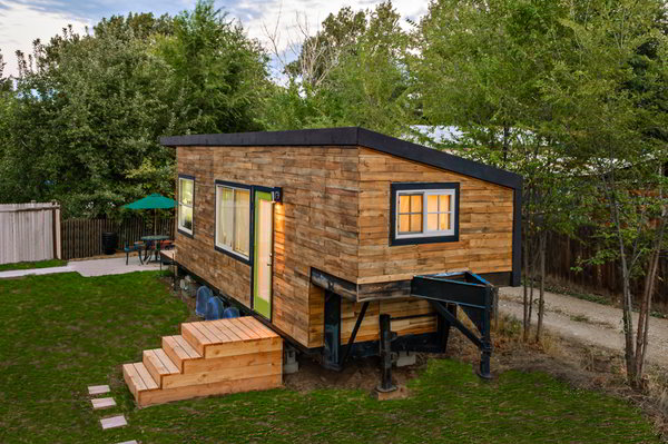 stunning tiny house built on a gooseneck flatbed trailer, Tiny Houses/