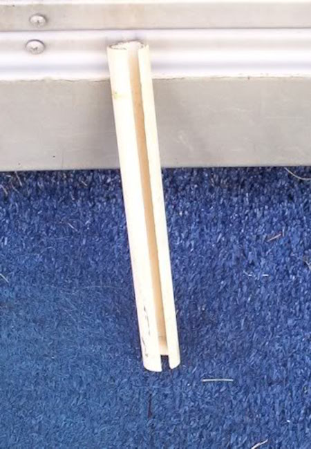 PVC cut to length with groove
