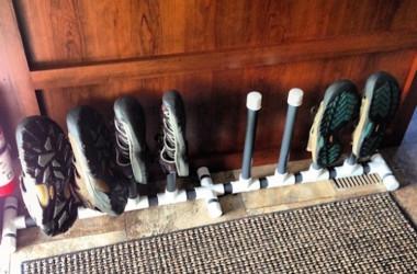 RV PVC shoe rack