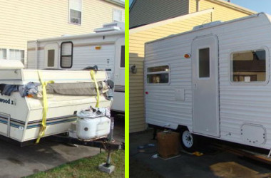DIY Camper Trailer Built from an Old Pop-Up on a Budget of $4500