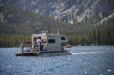 Weekend at The Lake or in the RV? With a Floating RV You Get Both