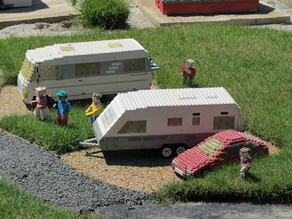 LEGO motorhomes on display