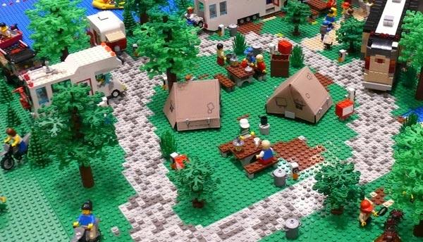 LEGO camping scene