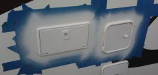 How to Refinish Yellowed Exterior RV Hatches and Trim Using Spray Paint