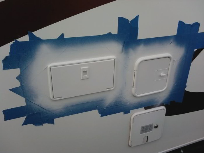 Refinish Yellowing Exterior Rv Hatches And Trim Using
