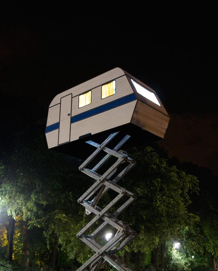 Bufalino camper at night