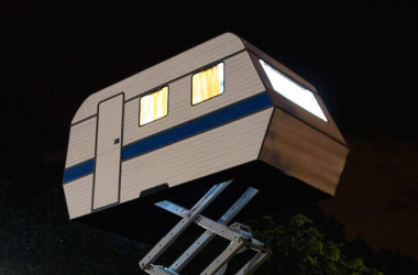 Unique Travel Trailer Gets A Penthouse View Everywhere It Camps