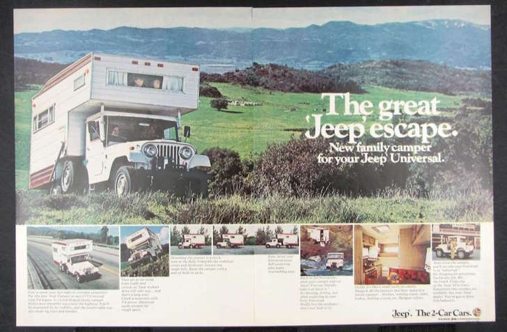 CJ5 Jeep Camper advertisement