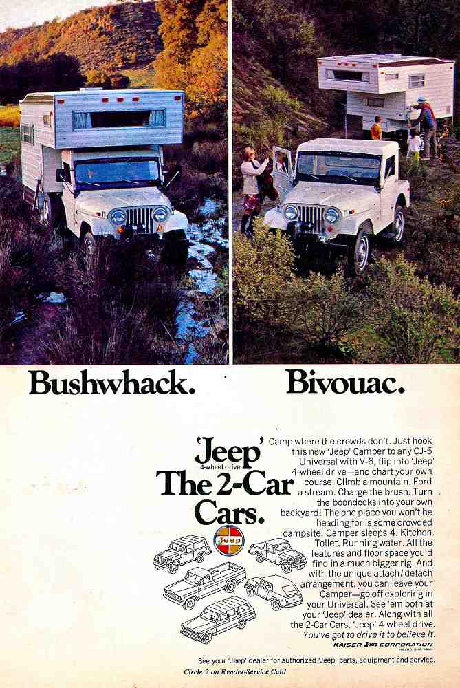 Jeep camper advertising brochure